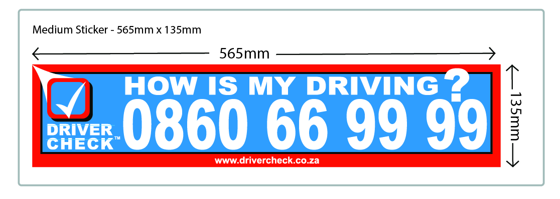 Large Sticker @ R 60.15 per sticker