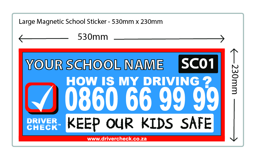 Medium Sticker @ R 45.50 per sticker