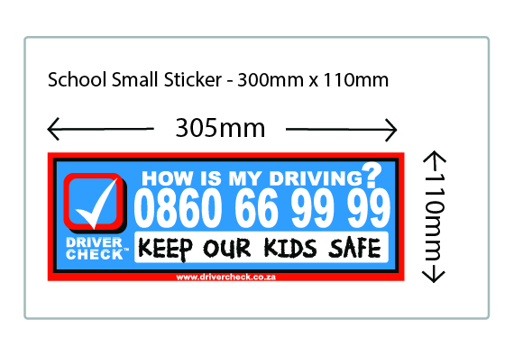 Small Sticker @ R 39.80 per sticker